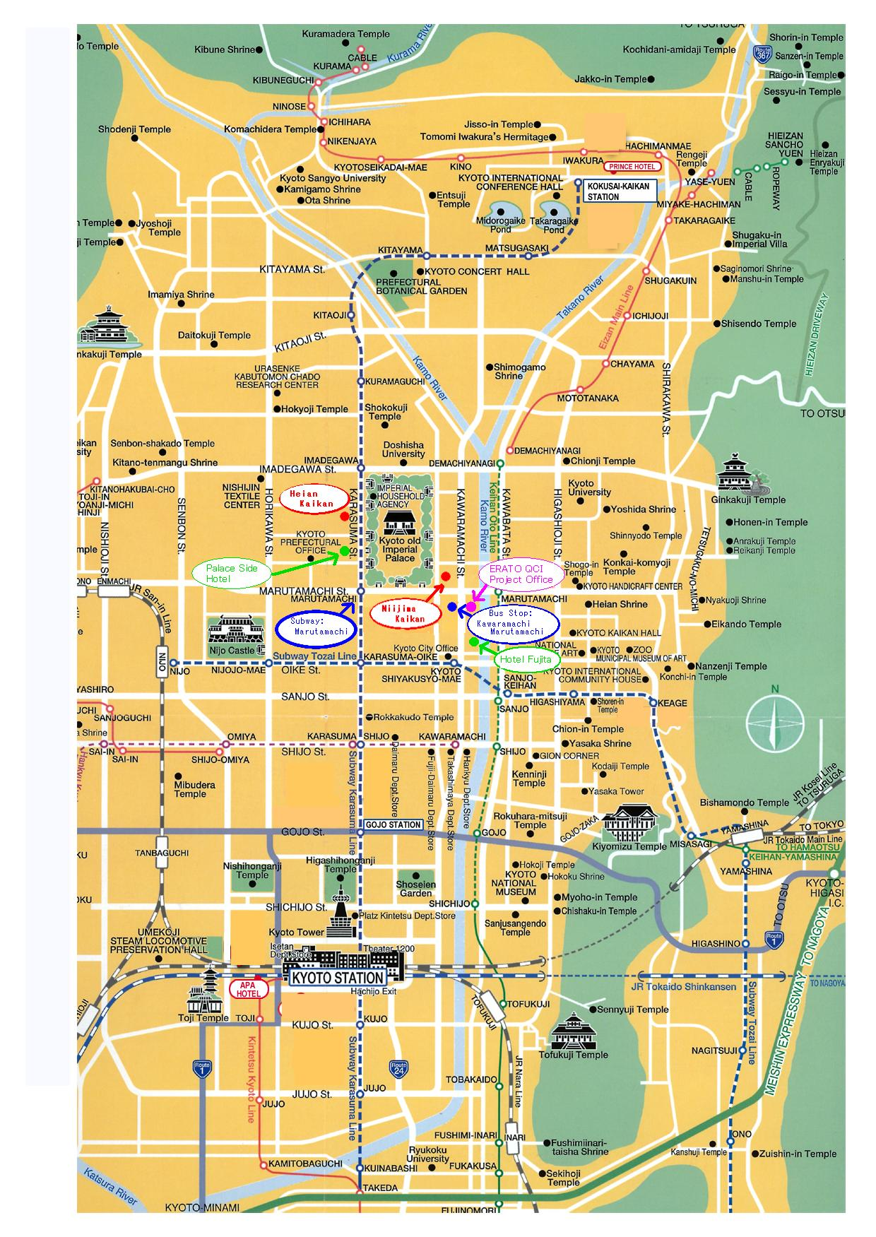 Kyoto city tourist map see map details from www qci jst go jp