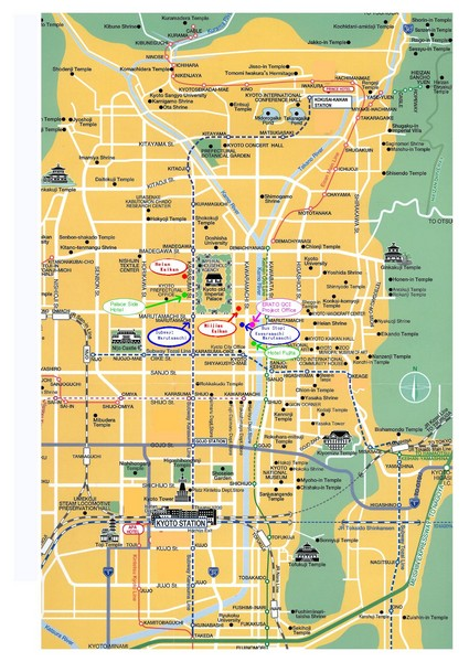 Kyoto City Tourist Map Kyoto japan mappery