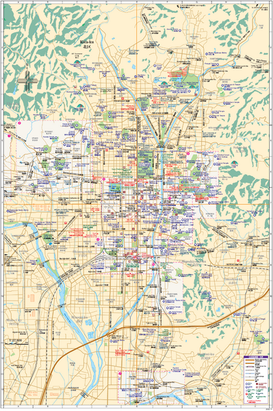 Kyoto Tourist Map