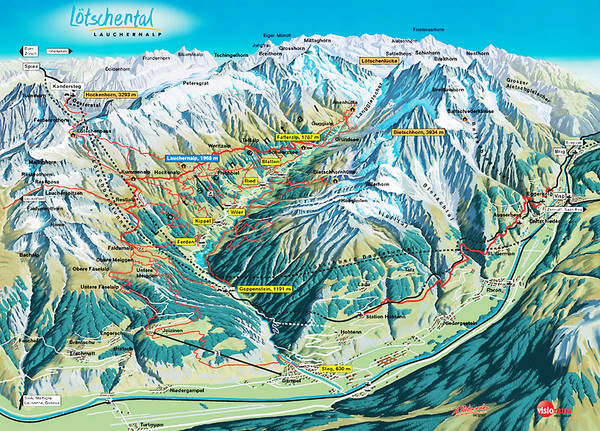Lötschental Lauchernalp Summer Trail Map