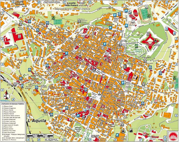 Aquila Italy Map.Laquila City Map L039aquila Italy Mappery