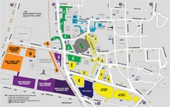 LSU Stadium and Parking Map