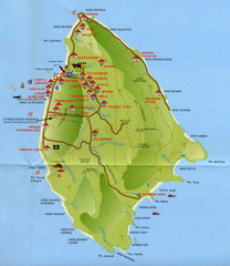 La Digue tourist Map