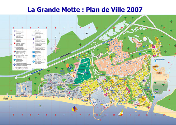 La Grande Motte Tourist Map La Grande Motte France mappery