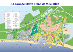 La Grande Motte Tourist Map