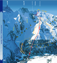 La Grave Ski Trail Map