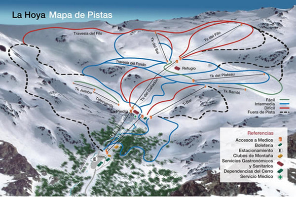 La Hoya Ski Trail Map