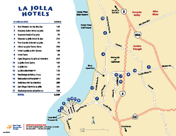 La Jolla Tourist Map
