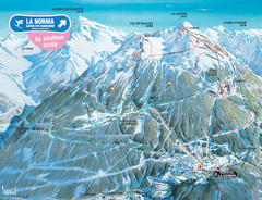 La Norma Ski Trail Map