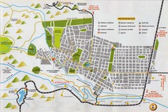 La Paisanita Tourist Map