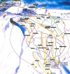 La Parva Ski Trail Map