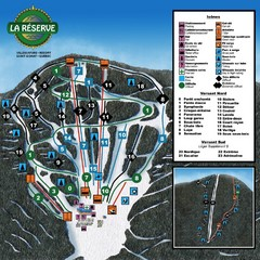 La Resérve Ski Trail Map