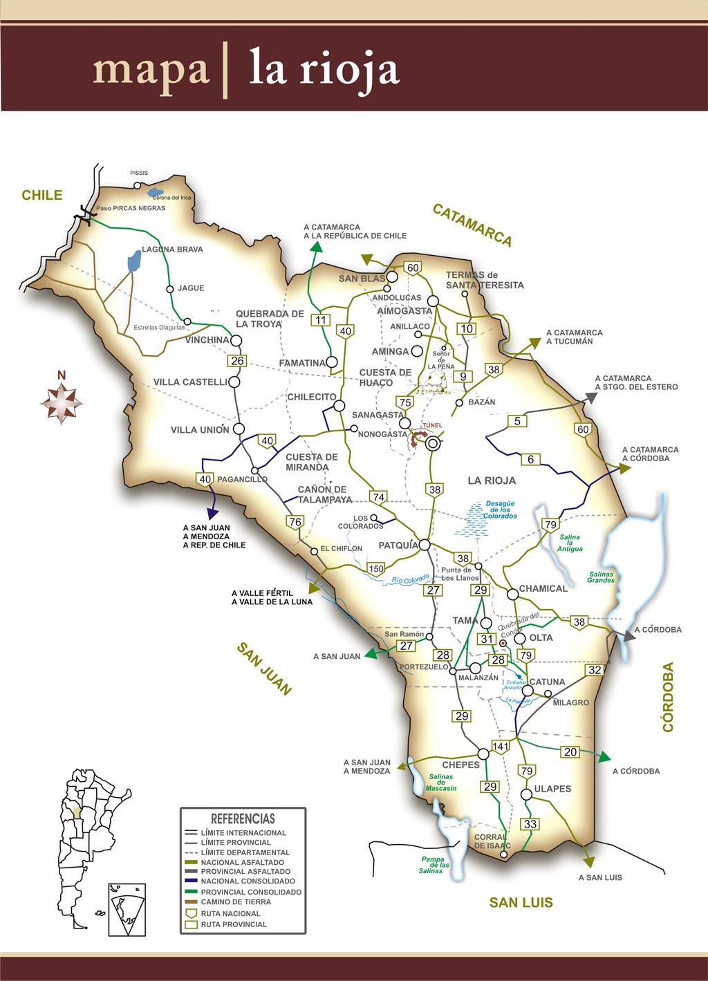 La Rioja Map La Rioja Argentina mappery