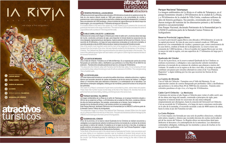 La Rioja Tourist Map La Rioja Argentina mappery