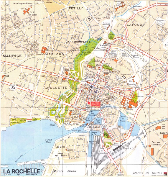 Nantes Tourist Map Nantes France mappery – La Tourist Map