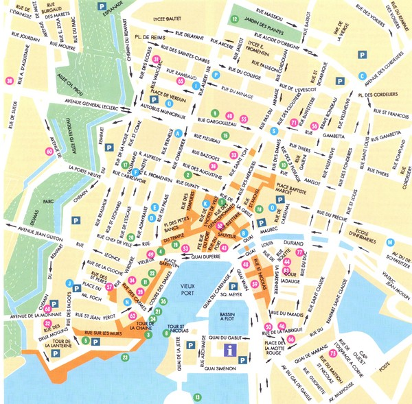 La Rochelle - centre Map