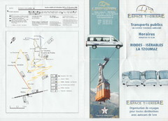 La Tzoumaz Public Transportation Map (French)
