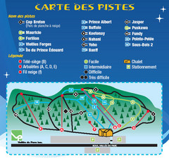 La Vallee du Parc Ski Trail Map