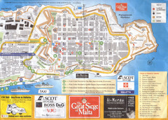 La Valletta Tourism Map