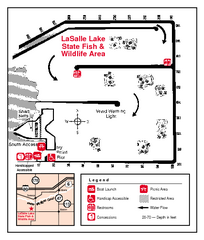 LaSalle Lake, Illinois Site Map