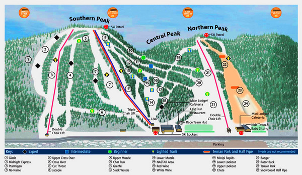Labrador Mountain Ski Trail Map  Tully New York United States
