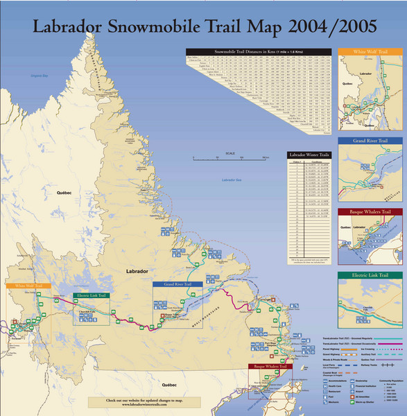 Labrador Snowmobiling Trail Map