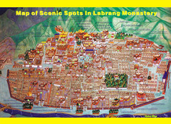Labrang Monastery Tourist Map