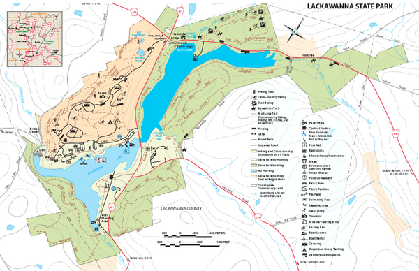 Lackawanna State Park Map