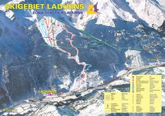 Ladurns Ski Trail Map