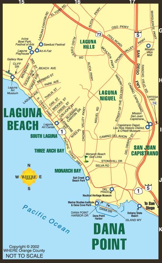 Laguna Beach Florida Map Laguna Beach Florida Street Map 1237500 Laguna Beach Tourist Map
