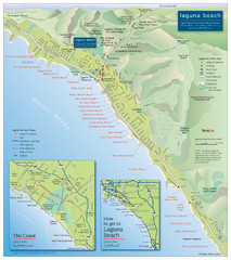 Laguna Beach Tourist Map