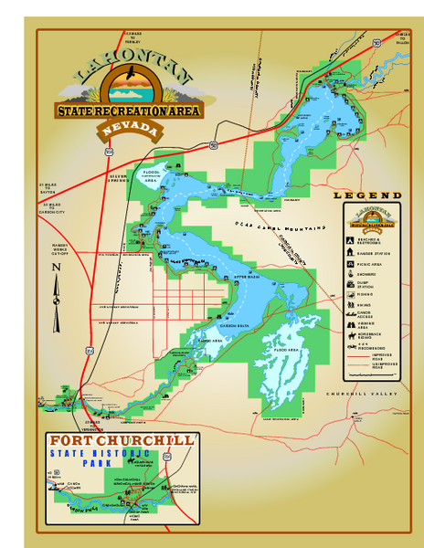 Lahontan State Recreation Area Map