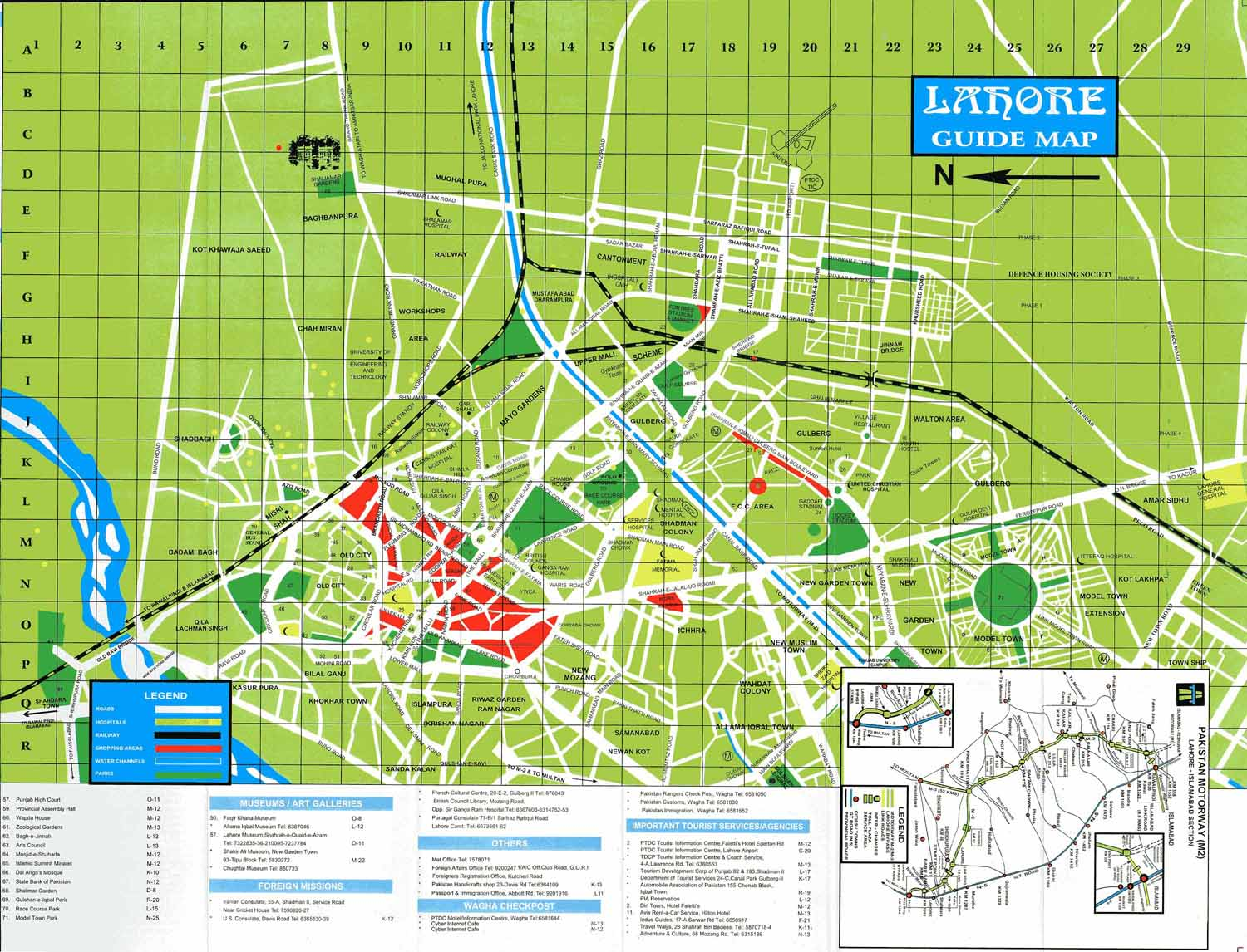 lahore guide map  lahore pakistan • mappery -