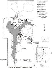 Lake Ahquabi State Park Map