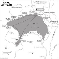 Lake Atitlan Map