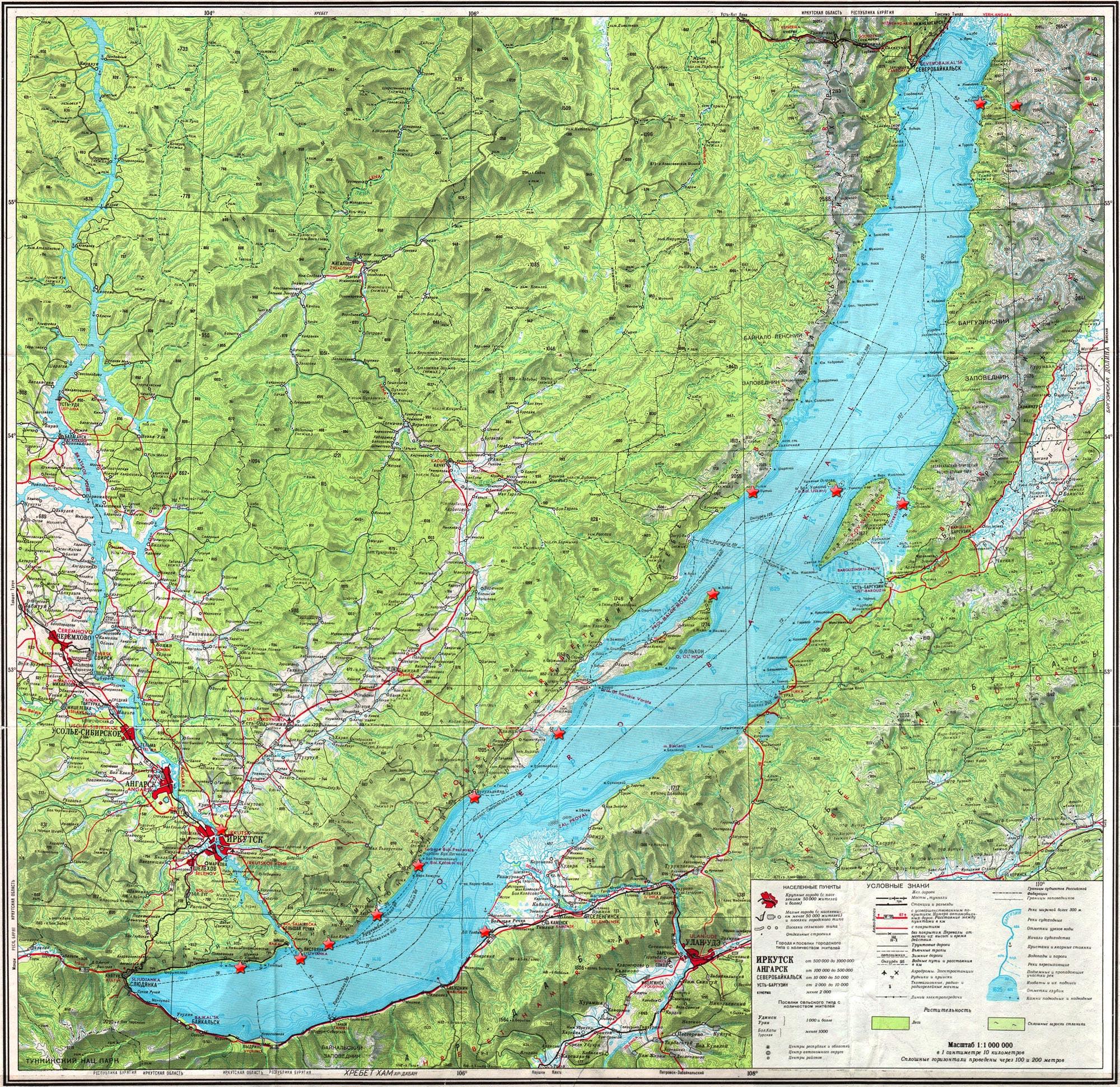 Baikal Explorer - Map of lake Baikal