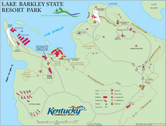 Lake Barkley State Resort Park Map