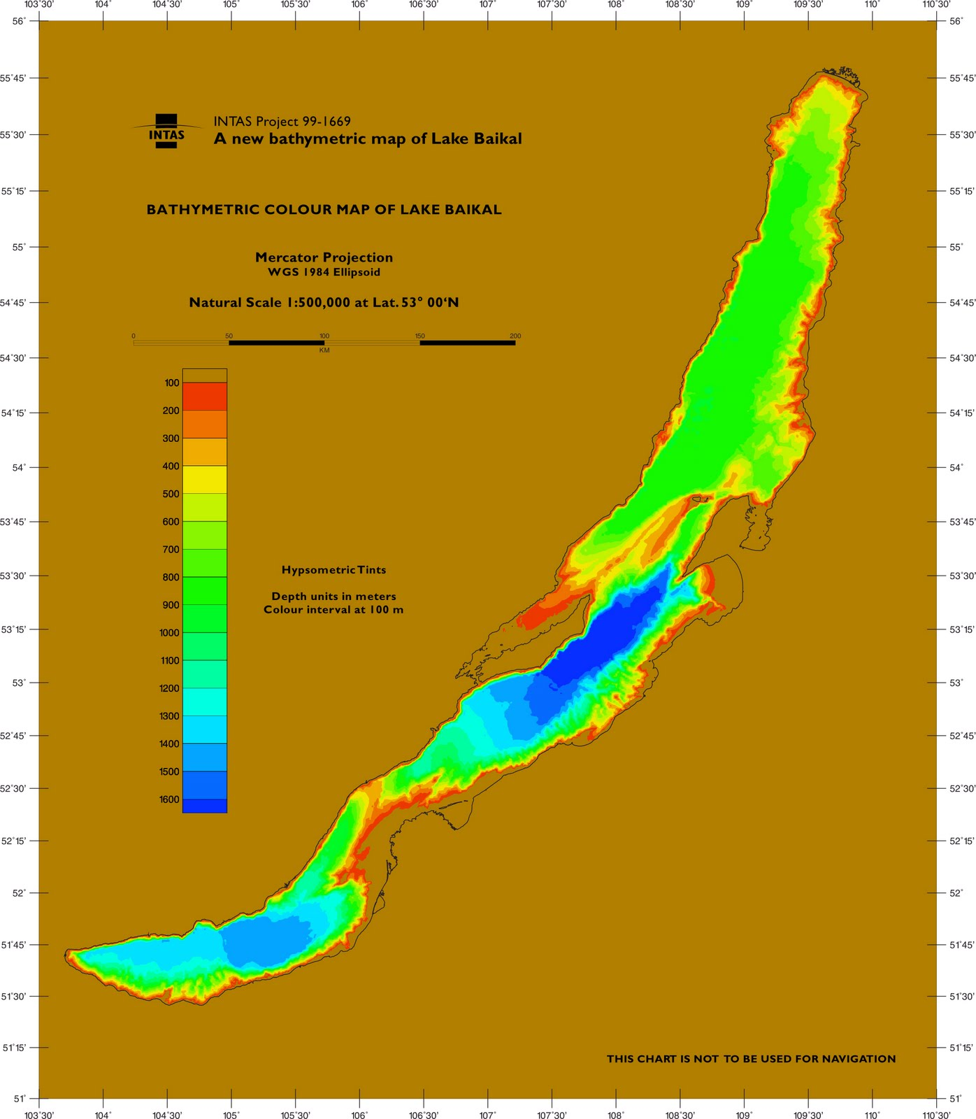 Lake Biakal Water Depth Map Lake Biakal Mappery - Water depth map