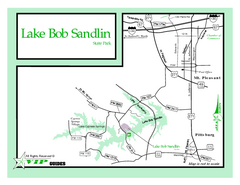 Lake Bob Sandlin, Texas State Park Map