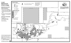 Lake Bronson State Park Winter Map