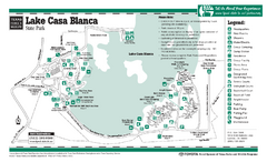 Lake Casa Blanca, Texas State Park Facility Map