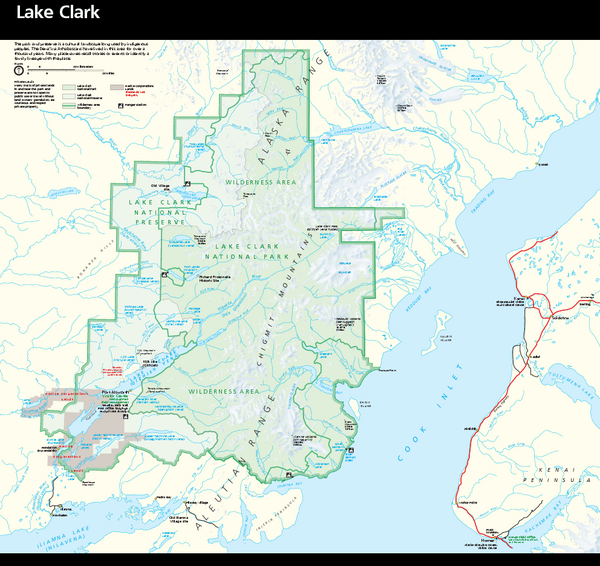 Lake Clark National Park & Preserve Park Map