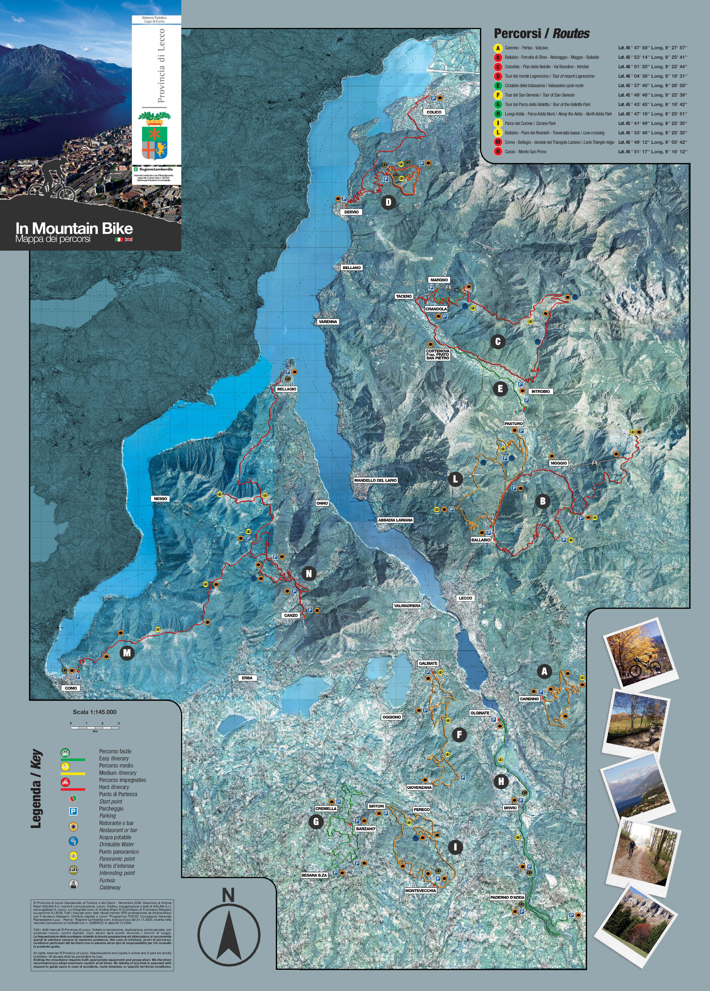 kart over gardasjøen Comosjøen eller Gardasjøen | | [terrengsykkel.no] Arena kart over gardasjøen