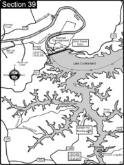 Lake Cumberland-Cumberland River Map