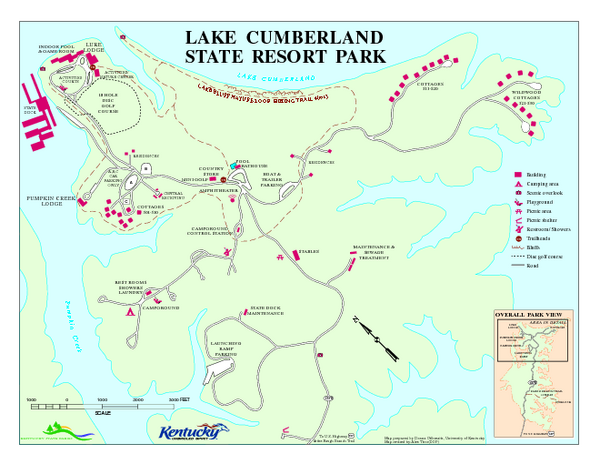 Lake Cumberland State Resort Park Map Jamestown KY Mappery - Jamestown on us map