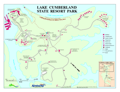 Lake Cumberland State Resort Park Map