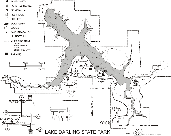 Lake Darling State Park Map