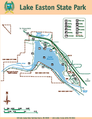 Lake Easton State Park Map