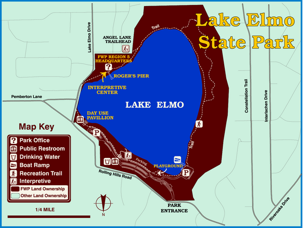 Lake Elmo State Park Map