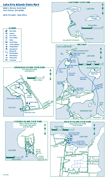 Lake Erie Islands State Park map